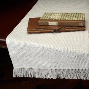 twill rib hand woven table runners bewoven studio